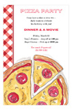 Dinner and a Movie Pizza Party Invitations