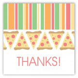 Pizza Party Square Sticker