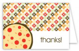Pizza Pattern Folded Note Card
