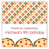 Pizza Party Pattern Square Sticker