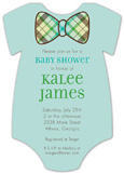 Plaid Bowtie Onesie Invitation