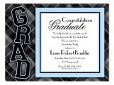 Plaid Grad Boy Invitation
