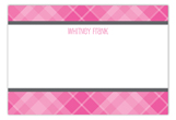 Plaid Grad Pink Flat Note Card