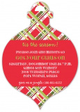 Plaid Ornament Invitation