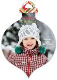Plaid Ornament Photo Card