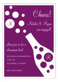 Plum Bubbly Cocktail Party Invitation