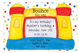 Polka Dot Bounce House Invitation