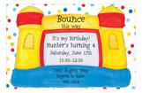 Polka Dot Bounce House Invitation