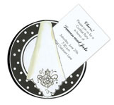 Polka Dot Dinner Plate Invitation