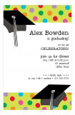 Polka Dots and Grad Caps Invitation