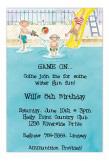 Pool Party Boys Invitation