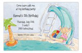 Pool Slide Girl Invitation