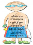 Poolboy Die-cut Invitation