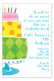 Popping Birthday Cake Invitation