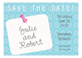 Post It Save the Date Invitation