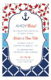 Preppy Anchor Nautical Shower Invitations