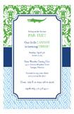 Preppy Gator Invitation