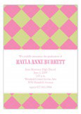 Preppy Pink Argyle Invitation