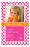 Preppy Trellis Pink Photo Card