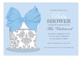 Pretty Gift on Blue Invitation