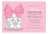 Pretty Gift on Pink Trendy Baby Shower Invitations