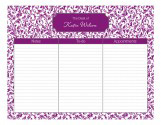Pretty in Purple Daily Calendar Pad