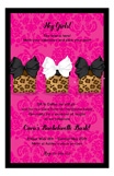 Pretty Leopard Presents Invitation