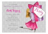 Pretty Party Box Blonde Invitation