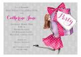 Pretty Party Box Brunette Invitation