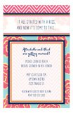 Pretty Peonies Floral and Chevron Invitation