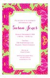 Pretty Pink and Orange Invitation