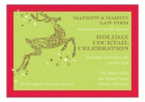 Pretty Prancing Green Invitation