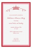 Red Crown Princess Party Invitation