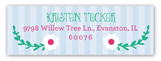Princess Party Blonde Address Label