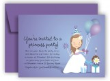 Princess Peyton in Purple Invitation