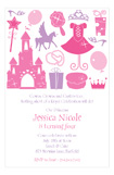 Silhouettes Princess Birthday Invitations