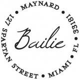 Bailie Personalized Stamp