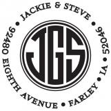 Jackie Personalized Monogram Stamp