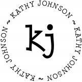 Kathy Personalized Monogram Stamp