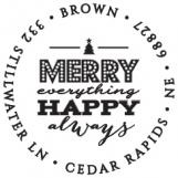 Merry Always Personalized Stamp