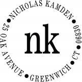 Nicholas Personalized Monogram Stamp