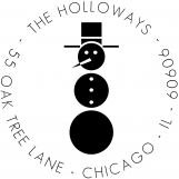Retro Snowman Personalized Stamp