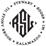 Stewart Personalized Monogram Stamp