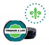 Turquoise and Lime Two-Color Ink Cartridge