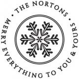 Winter Snow Personalized Stamp