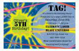 Tag! Laser Tag Party Invitation