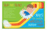 Waterslide Boy Pool Party Invitation