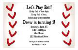 Baseball Fun Birthday Invitation