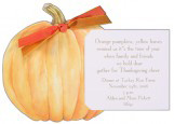 Die-Cut Pumpkin Unique Fall Invitations
