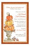 Pumpkin Topiary Invitation